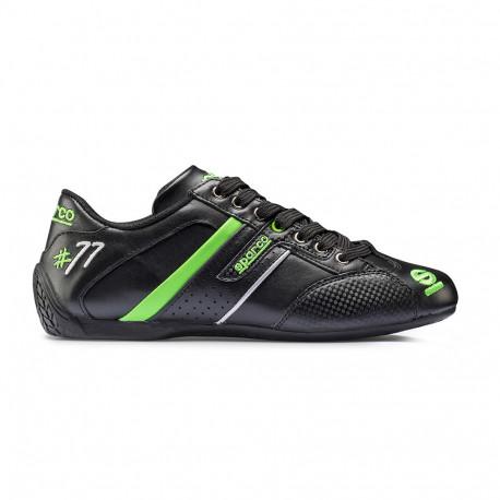 Cipők Sparco TIME 77 cipő fekete/zöld   race-shop.hu