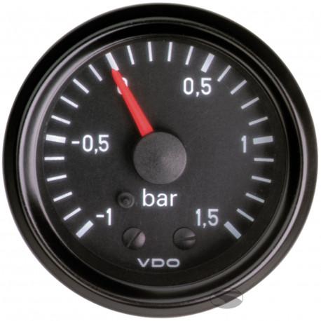 VDO Cocpit Vision Orák VDO óra turbonyomás mechanikus (-1-1,5 BAR) - cockpit vision széria | race-shop.hu