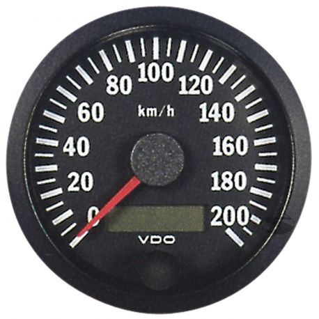 VDO Cocpit Vision Orák VDO óra 80 mm-es sebességmérő 0-200 km / h - cockpit vision széria   race-shop.hu