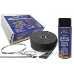 Thermotec szet: kipufogó bandázs + impregnáló spray- + rozsdamentes acél pántok