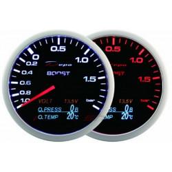 Depo 4in1 mérő óra,Black –Turbo nyomás + Olaj nyomás + Olaj hőfok + Töltés
