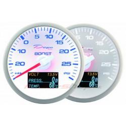 Depo 4in1 mérő óra,White –Turbo nyomás + Olaj nyomás + Olaj hőfok + Töltés