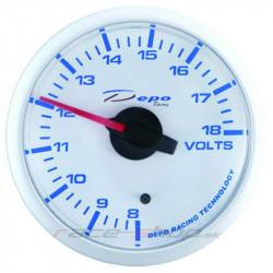 Budík DEPO Dobíjanie (voltmeter) - Super white séria