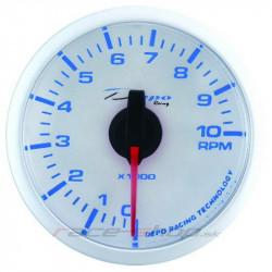 DEPO óra Fordulatszámmérő - Super white széria