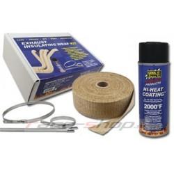 Thermotec szet: 2x kipufogó bandázs + impregnáló spray- + rozsdamentes acél pántok